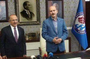 Bakan Soylu Trabzon'un bayramlaşmasına katıldı