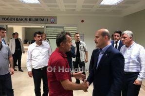 Bakan Soylu'dan Oflu Polis Namık Öztel'e ziyaret