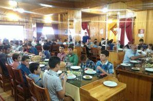 Ballıcalı öğrencilerden Hasan Efendiye ziyaret