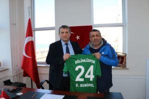 Bölümlüspor'dan Müdür Demirel'e teşekkür ziyareti