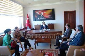 Cumder Yönetiminden Kaymakam Arslan'a ziyaret