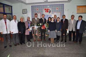 Müdür Kırbaç'tan Of Anadolu Lisesi'ne ziyaret