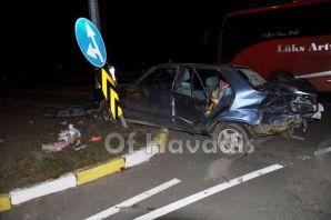 Soğukpınar Kavşak'ta kaza, 3 yaralı