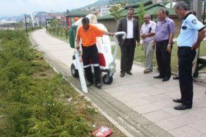 Of Belediyesine yeni temizlik aracı