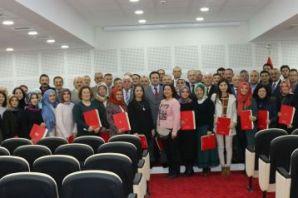 Kaymakam Fırat'tan 74 öğretmene başarı belgesi