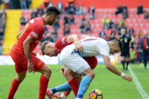 Trabzonspor Kayserispor ile berabere kaldı