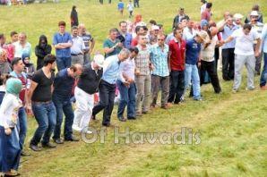 Mesoraş'ta 6 Bin kişi sıraya girip bayramlaştı