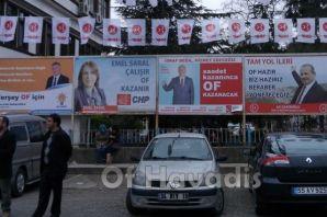 Of Belediye Başkan Adaylarının seçim çalışmaları