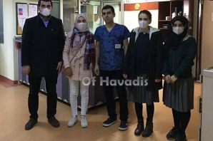 Of Anadolu Lisesi öğrencilerinden Lösemili hastala