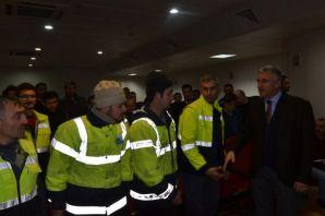 Başkan Sarıalioğlu Taşeron işçilerle buluştu