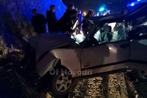 Of Çaykara Yolu 3 araç 1 yaralı