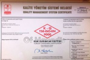 OF TSO TSE ISO EN belgesini yeniledi