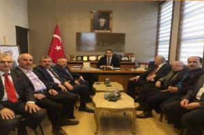 Oflu Başkanlardan Kaymakam Dervişoğlu'na ziyaret