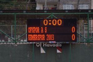 Ofspor Kemerspor'la berabere kaldı