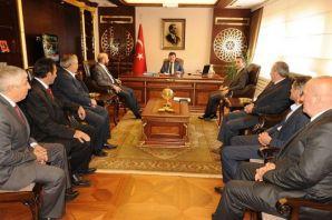 Kaymakam Arslan ve Başkanlardan Vali Öz'e ziyaret