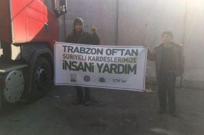 Of'un yardımları Suriyelilere ulaştı
