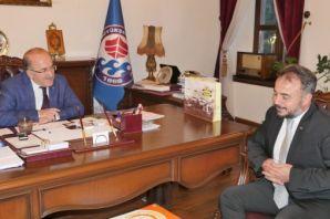 Başkan Gümrükçüoğlu ASKON heyetini kabul etti