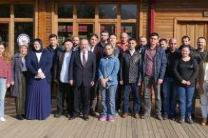 Başkan Gümrükçüoğlu, Belediye çalışanlarıyla kahva