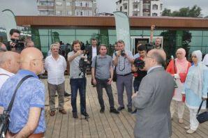 Denizden Trabzon Botanik'e yürüyüş yolu ile ulaşıl