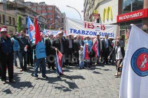 Trabzon'da 1 Mayıs