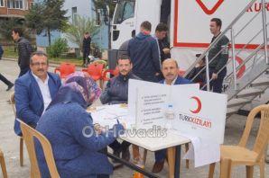 Ulusoy Lisesi öğrencilerinden Kızılay'a kan bağışı