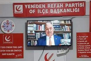 Yeniden Refah Of İlçe Videokonferans toplantı