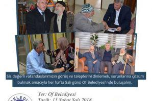 Başkan Sarıalioğlu, halk gününe Ofluları davet ett