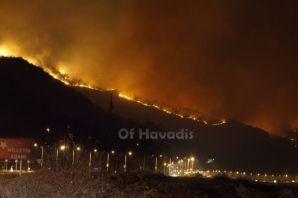 Sürmene Çamburnu'nda büyük yangın