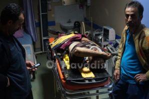 Çaykara'da araç uçuruma yuvarlandı
