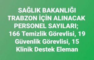 Sağlık Bakanlığı Trabzon'da...