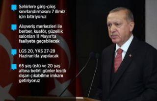 Cumhurbaşkanı Erdoğan: Normal hayata dönüşü...