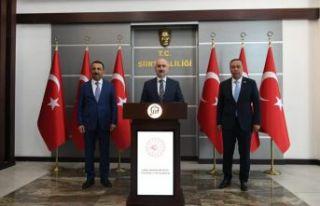 Oflu Bakan Karaismailoğlu'ndan Oflu Vali Hacıbektaşoğlu'na...