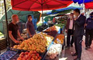 Kaymakam İnan'dan halk pazarı ve kurban pazarına...