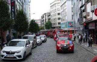 Trabzon İtfaiyesi'nden Azerbaycan Bayraklı...