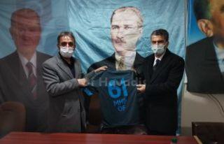 AK Parti İl Başkanı Mumcu'dan Of MHP'ye ziyaret