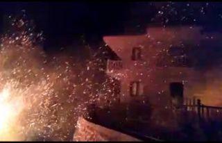 Kıyıcık'taki yangının imdadına yağmur yetişti