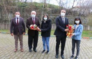 Kaymakam Çiçek FSM ve Pınaraltı okullarını ziyaret...