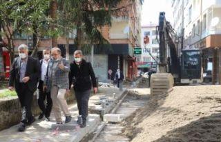 Of'ta sokaklar yenileniyor