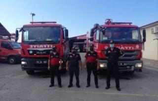 Trabzon Büyükşehir'den Manavgat'a yangın söndürme...