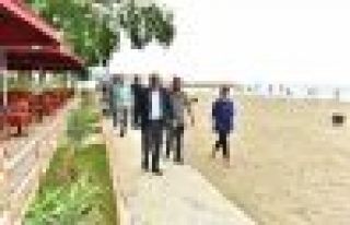Başkan Zorluoğlu, halk plajlarını inceledi
