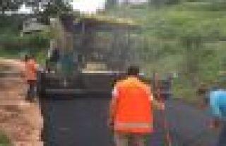 Büyükşehir Belediyesi asfaltta gaza bastı