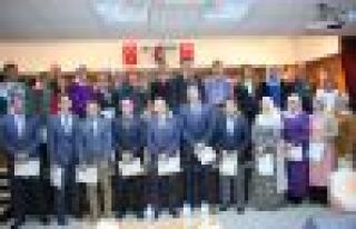 Kaymakam Fırat'tan 90 eğitimciye Başarı Belgesi