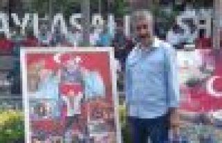 Küçükibrahimoğlu 15 Temmuz resim yarışmasında...