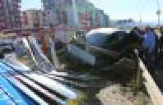 Of Çaykara Yolu girişinde kaza 1 yaralı