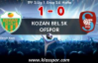 Ofspor Kozan Belediyespor'a mağlup