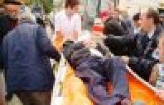Of'ta Otobüsün çarptığı kişi yaralandı