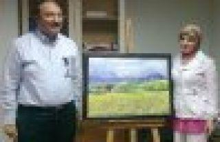 Özak, Zeynep Bilgin'in resmine hayran kaldı