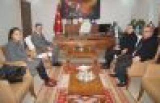 Savcı ve Hakimler Kaymakam Fırat'a ziyaret