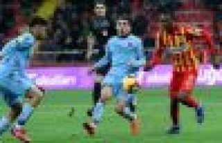 Trabzonspor Kayserispor'u iki golle geçti