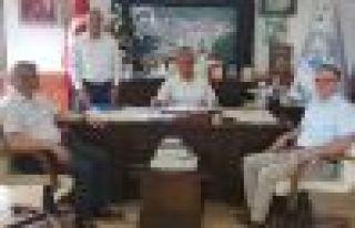Yaşar ve Şentürk'ten Başkan Akçiçek'e ziyaret
